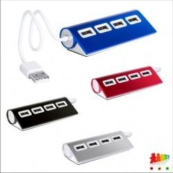 Hub USB in alluminio a 4...