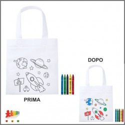 Borsa shopper da colorare