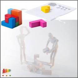 Puzzle in legno colorato